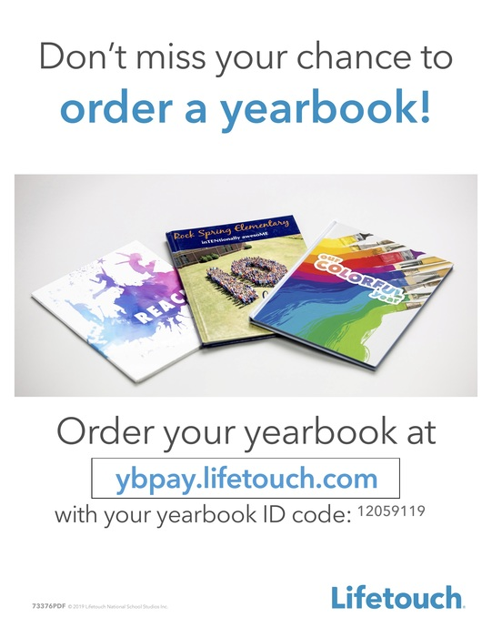 Lifetouch Yearbook flyer