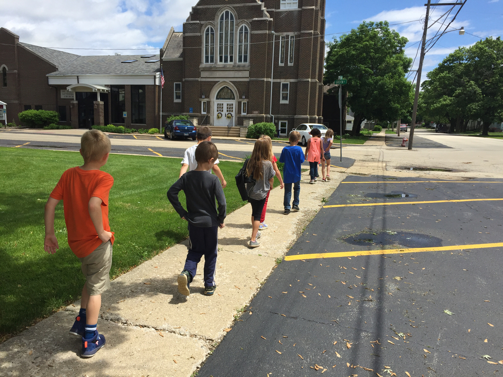 Walking to Fire department.