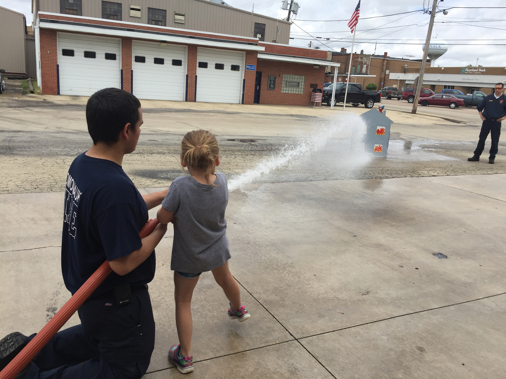 Training to be a fire fighter!