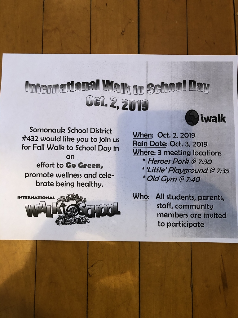 Walk to School Day is next Wednesday!  Hope you can join us.