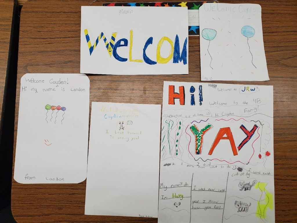 Beautiful welcome cards from kind students!