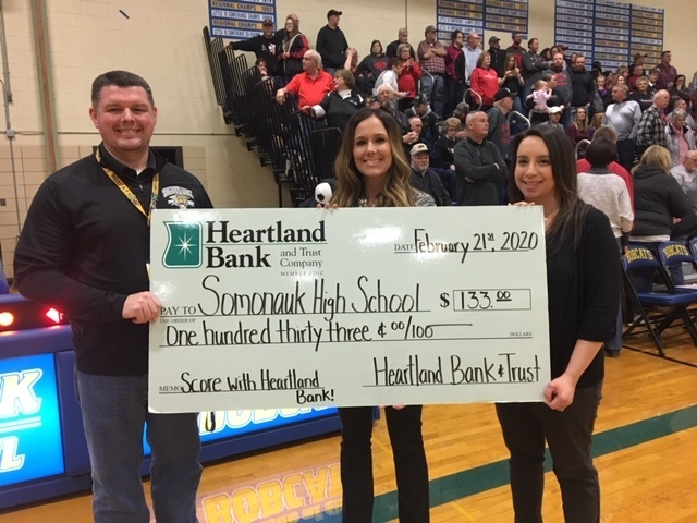 Check presentation during the Somonauk vs. IC game on Friday 2/21.