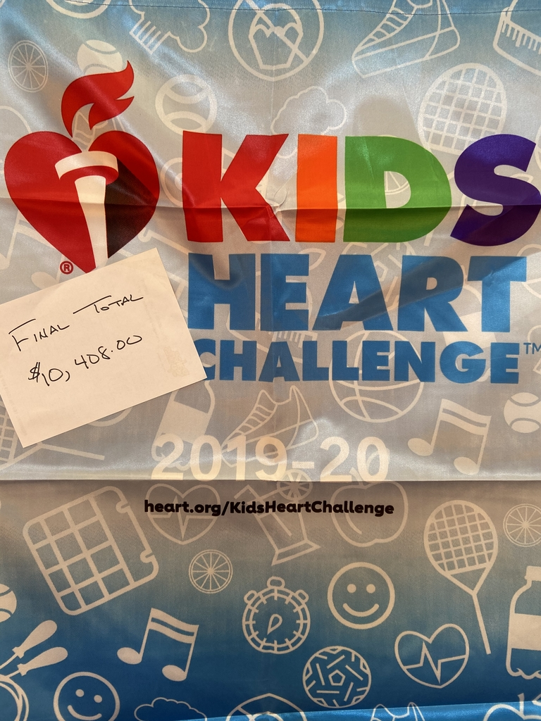 The Kids Heart Challenge final total is in!  We raised $10,408!!!  Thank you to everyone that donated.  Awesome job!