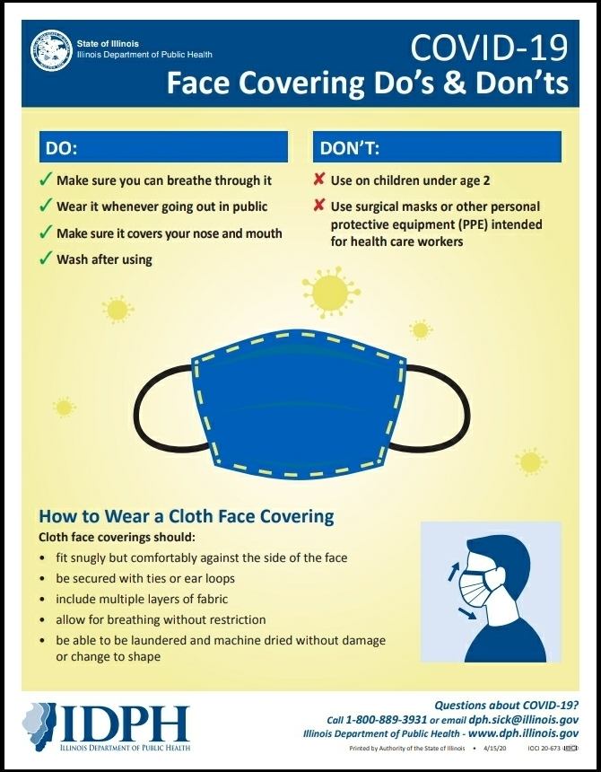 COVID-19 Face Coverings Do's and Dont's